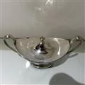 18th Century Antique George III Sterling Silver Pair Sauce Tureens London 1786 John Scofield