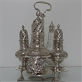 Antique Mid 18th Century George II Sterling Silver Warwick Cruet London 1744 George Hindmarsh