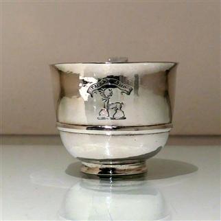 Early 18th Century Antique George I Scottish Silver Wine Cup Edinburgh 1716 Edward Penman