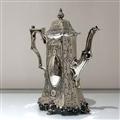 Mid 19th Century Antique Victorian Sterling Silver Four Piece Tea & Coffee Set London 1848 Joseph Angell Senior & Joseph Angell Junior