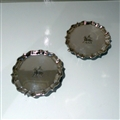 Early 18th Century Antique George II Sterling Silver Pair Salvers London 1735 Francis Pages