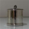 19th Century Antique William IV Antique Sterling Silver Mustard Pot London 1833 Jonathan Hayne