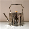 19th Century Antique Victorian Sterling Silver Kettle on Stand London 1873 Barnard Family