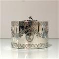 18th Century Antique George III Sterling Silver Oval Tea Caddy London 1776 John Carter