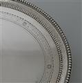 18th Century Antique Pair of George IIII Sterling Silver Salvers London 1782 John Crouch I & Thomas Hannam