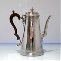 Early 18th Century Antique George III Sterling Silver Coffee Pot London 1732 Benjamin Godfrey