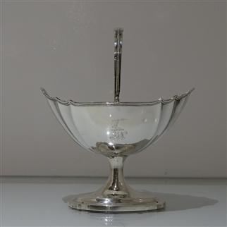 Early 19th Century Antique George III Irish Sterling Silver Sugar Basket Dublin 1802 Joseph Jackson