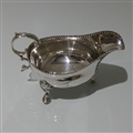 18th Century George III Antique Sterling Silver Pair Sauceboats London 1784 William Sumner