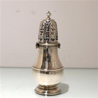 Early 18th Century Antique Queen Anne Britannia Silver Sugar Caster London 1708 Charles Adam
