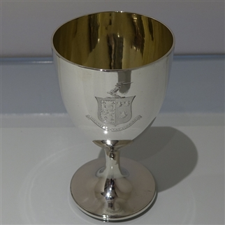 18th Century George III Antique Sterling Silver Goblet London 1796 John Robins
