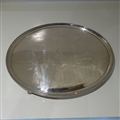 18th Century George III Large Old Sheffield Silver-Plate Oval Salver Circa 1785