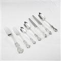 HAND-FORGED SILVER ALBERT PATTERN CUTLERY