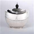 Queen Anne Style Silver Tea Caddy