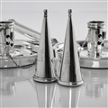 Pair Victroian Silver Chamber Candlesticks