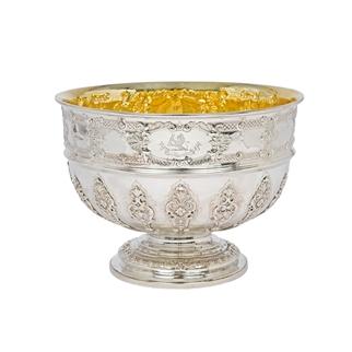Paul De Lamerie Style Silver Rose Bowl