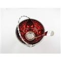 Ruby Red Glass Sugar Basket & Spoon