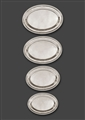 Fine set of four large George III silver meat dishes