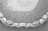 Super quality large armorial George II silver salver London 1751 William Peaston