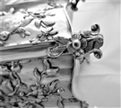 Wonderful set 3 crested & armorial George III silver caddies London 1766/6 Vere & Lutwyche