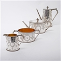 4-piece Victorian Silver Tea & Coffee Set