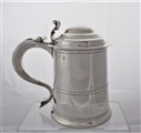 Good quality crested George I Britannia silver tankard London 1716 William Petley