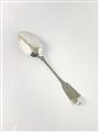 Antique Irish silver hallmarked sterling fiddle pattern dessert spoon 1812