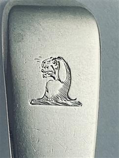 Antique Hallmarked sterling silver William IV fiddle pattern dessert spoon 1835