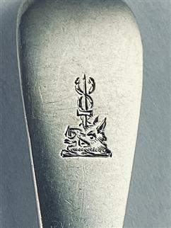 Set Four Hallmarked sterling silver Victorian silver rat tail dessert forks 1882