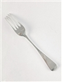 Antique hallmarked sterling silver Victorian Old English pattern table fork 1848