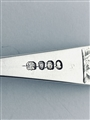 Antique hallmarked sterling silver three tined Hanoverian pattern table fork 1802