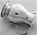 Good quality crested George II silver sparrow beak jug London 1733 John Gamon