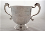 Super quality large early George I Britannia silver 2 handled cup London 1714 David Kilmaine