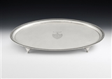 A VERY FINE GEORGE III DRINKS SALVER MADE IN LONDON IN 1781 BY WAKELIN & TAYLOR