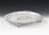 AN EXCEPTIONALLY FINE GEORGE III SALVER MADE IN LONDON IN 1812 BY PAUL STORR.