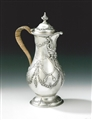 A VERY UNUSUAL GEORGE III COFFEE JUG MADE IN LONDON IN 1773 BY CHARLES WRIGHT