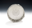 An Exceptionally Rare George Iii Neo Classical Cast Wine Coaster Made in London in 1774 by Peter Devignes