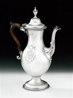 Hester Bateman. An Extremely Fine & Rare George Iii Coffee Pot Made in London in 178o by Hester Bateman