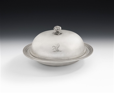 A Very Fine George III Muffin Dish Made in London in 1804 by John Emes.