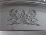 Frederick Kandler. An Unusual George Iii Salmon Dish Made in London in 1776 by Frederick Kandler