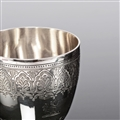 VICTORIAN SILVER WINE OR WATER GOBLET
