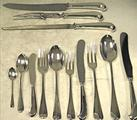 Rattail Sterling Silver Flatware With Pistol Handle Knives