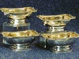 Set of 4 George IV silver salts