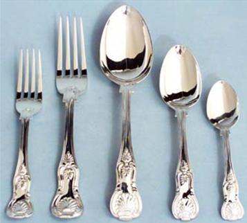 Victorian silver King's Pattern table service