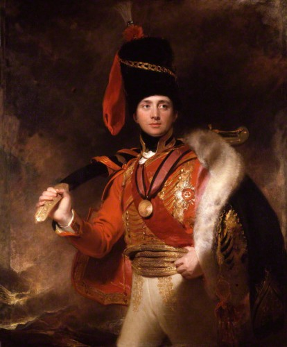 """""""The Golden Peacock"""": Charles William Vane, 3rd Marquess of Londonderry (1778-1854) by Sir Thomas Lwarence, 1812. National Portrait Gallery, London."""