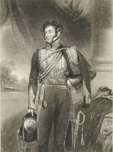 Richard Grenville, 2nd Duke of Buckingham and Chandos by John Porter, after John Jackson mezzotint, published 1841