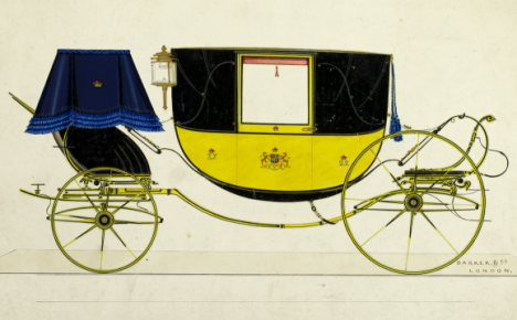 Landau carriage, circa 1820. Science Museum, London.