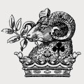 Legh family crest, coat of arms