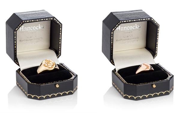ladies/womens and mens gold signet ring
