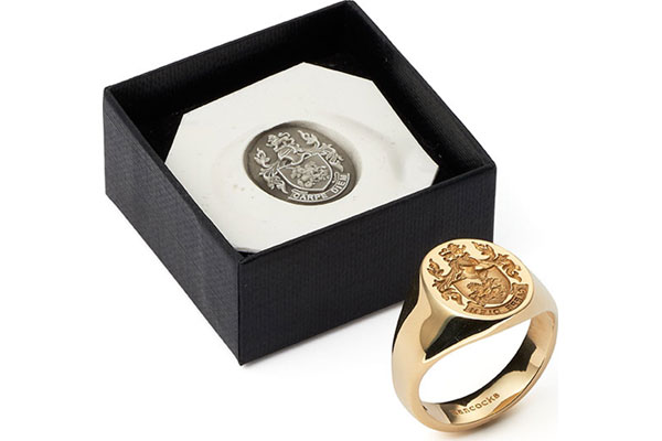 Gold Signet Ring Gold Family Crested Signet Rings