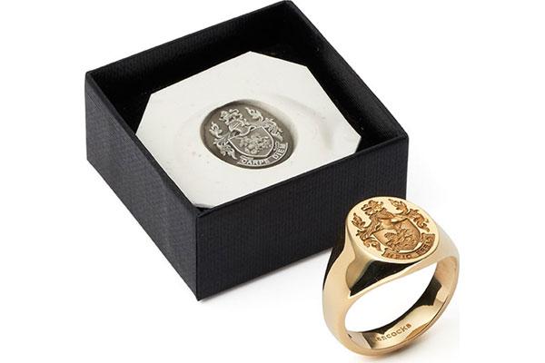 K Gold Signet Ring Womens